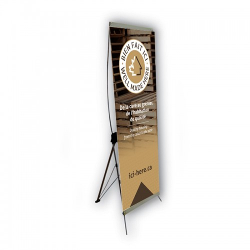 29'' x 62-1/4'' Banner with X frame - FR version