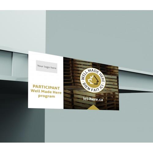 Packs of 1000 x 5'' x 4-1/4'' Shelf Talkers - EN logo on top