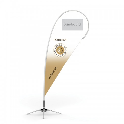 10' Beach Wing Banner Personalized with your Logo - FR logo on top