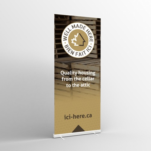 33'' x 78'' Floor Banner with Roll-Up Mechanism - EN Version