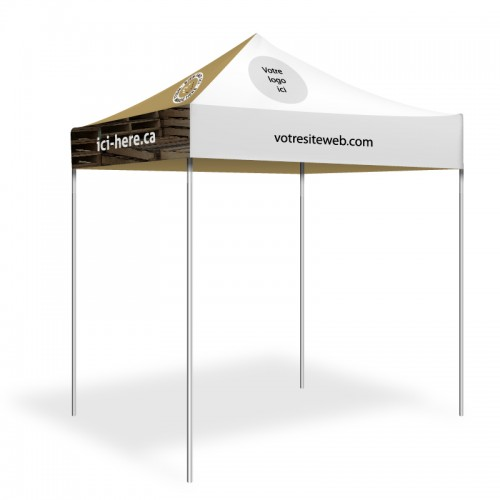 Personalized 6.5' x 6.5' event tent with your logo or product - FR Version