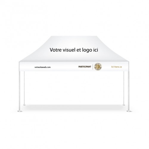 Personalized 6.5' x 10' event tent with your logo or product - FR Version