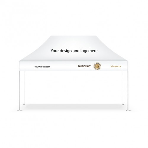Personalized 6.5' x 10' event tent with your logo or product - EN Version